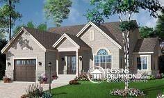 Belle architecture et modèle très populaire babyboomers, plan de maison no. 3260 de Dessins Drummond