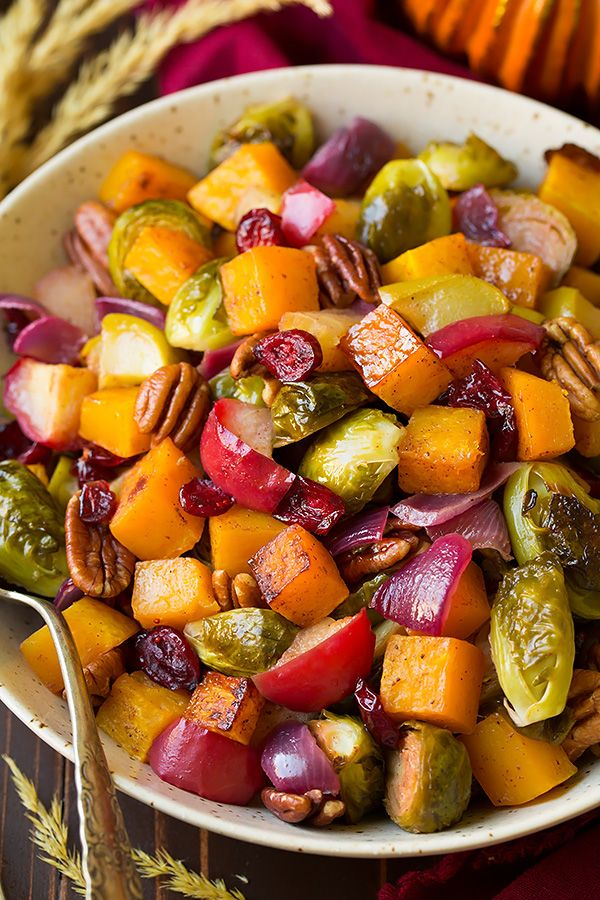 Autumn Roasted Veggies with Apples and Pecans   Cooking Classy