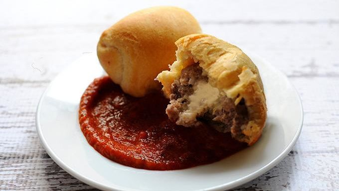 Crescent-wrapped, cheese-stuffed meatballs make for a wonderful appetizer.