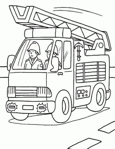 Coloriage Camion Pompier à Imprimer à colorier - Dessin à imprimer