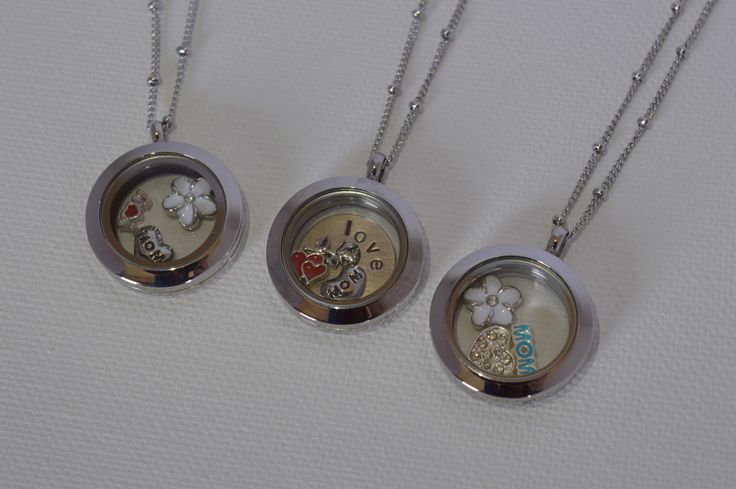 Mini Mothers Day lockets by Blueberry Moon