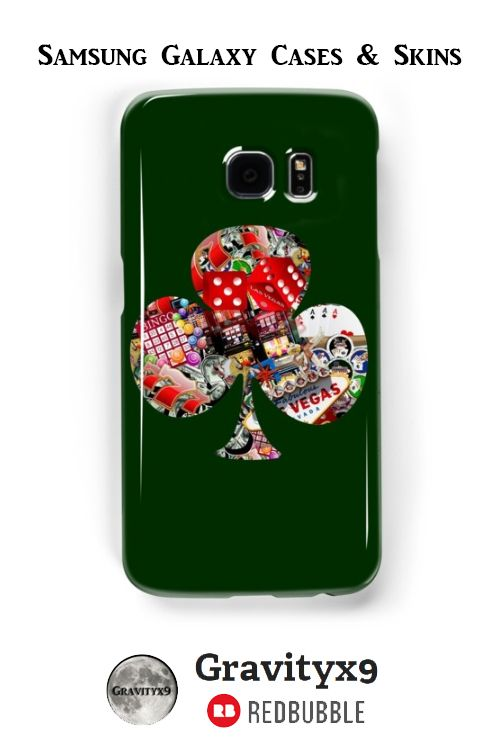 Club - Las Vegas Playing Card Shape Samsung Galaxy Cases & Skins (also available for the iPhone)  - This #LasVegasIcons design is also printed on fashion, prints, home decor and more at #Redbubble -   A #Gravityx9 Design