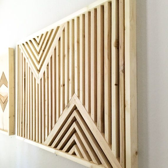 Wood Wall Art Rustic Wood Art reclaimed wood art Geometric