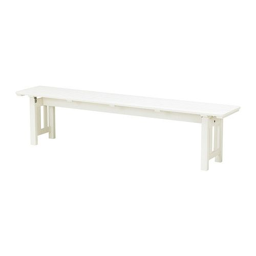 "ÄNGSÖ Bench IKEA You can easily protect the bench against wear and tear by re-glazing it on a regular basis, about once a year. as plant stand. $80 w72""x d13""x h16"""
