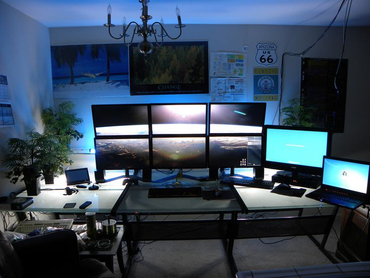 37 best workspace multiple monitor images on pinterest for Best living room setup