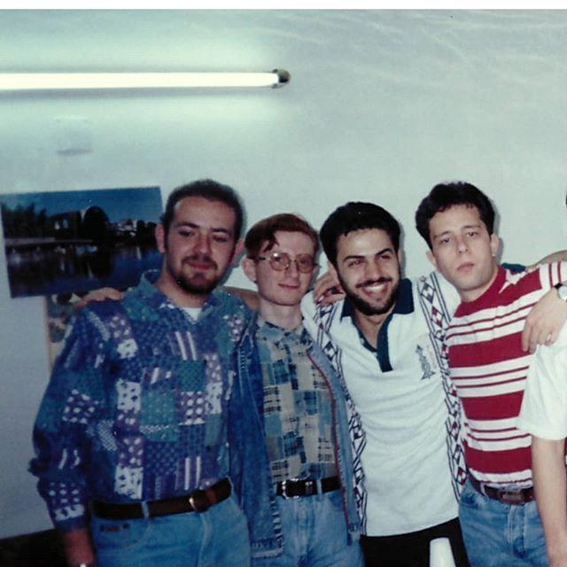 Mustafa Alkhani مصطفى الخاني On Instagram هدول الصور من عام 1997 كنا طلاب سنة أولى في المعهد العالي للفنون المسرحية بدمشق وكنا بزيارة لمنزل أحد الشباب Allah