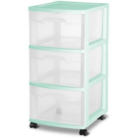 sterilite deep closet drawer blue 3