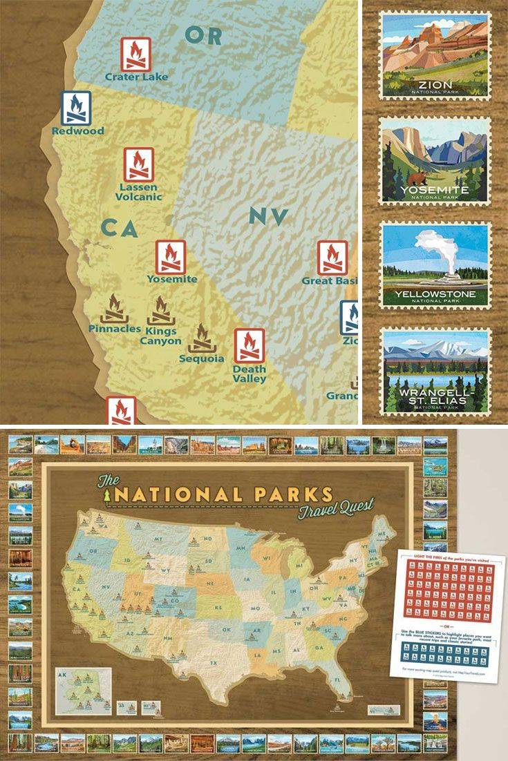 Best National Parks Images On Pinterest National Parks - Map of national parks in united states