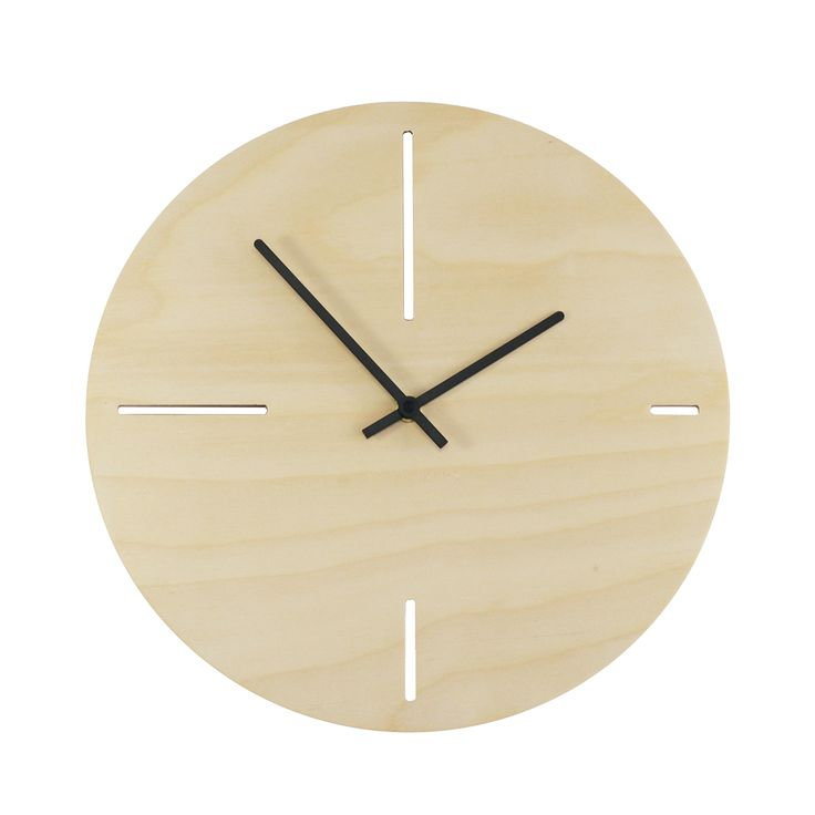 Less is three clock // slottings upon the natural texture of wood that signify four basic hours.