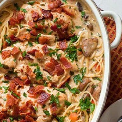 Smothered Chicken Casserole Recipe - Key Ingredient