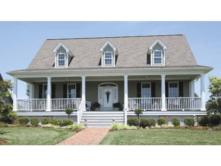 Low country house plan with 1643 square feet and 3 Low country farmhouse plans