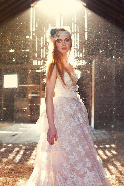 Dusty, lace, barn, love.