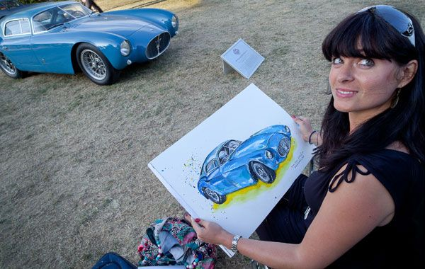 Painting a Maserati at Goodwood Fesival of Speed, 2010. Photograph by Wayne Grundy