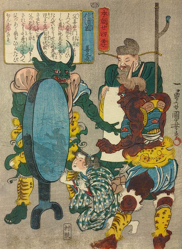 Utagawa Kuniyoshi - Shinano kuni no Zen-no-jo (Zen-no-jo of Shinano) _ Honcho nijushi-ko (Twenty-four Paragons of Filial Piety of Our Country) 1842-43 - Aeron Alfrey