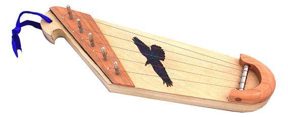 Tiny 5-string sopranino kantele with Raven wood burning