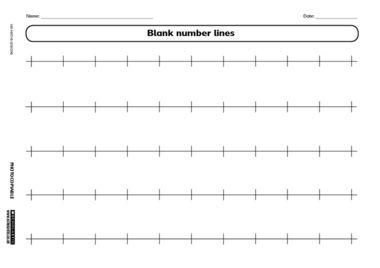: blank number line print out number line worksheets dynamic : Blank ...