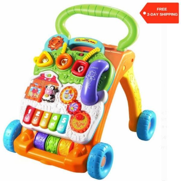 Fisher Price Stroller Walker Baby Nursery Room Musical Play Walk Learning Toy