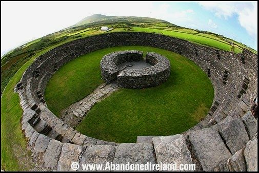 Cahergall Stone Fort in County Kerry, Ireland