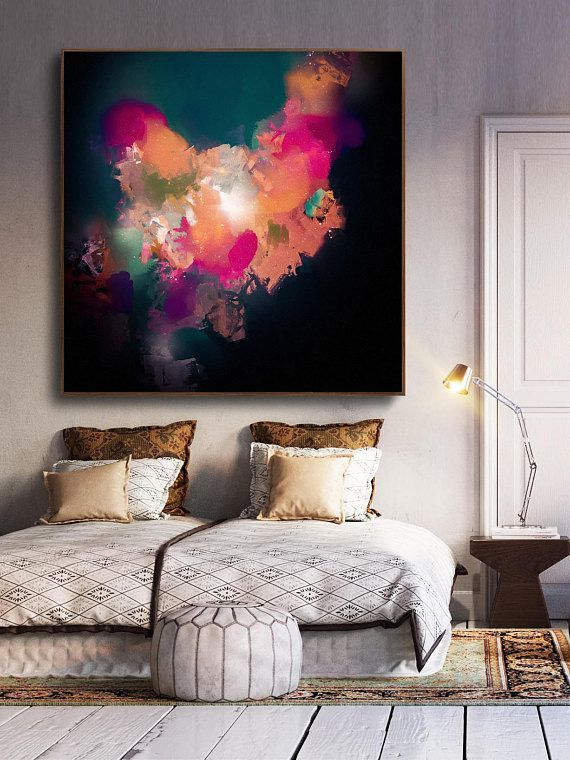 Abstract Painting , Extra Large Wall Art , Large W…