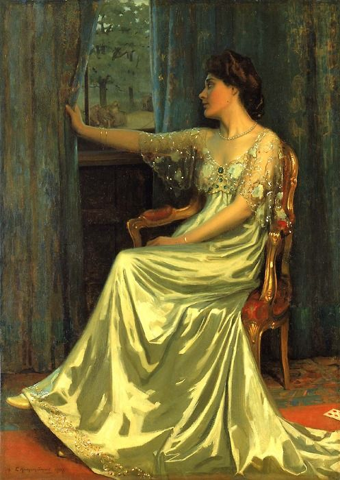 """Dawn,"" 1907 ~ Edmund Hodgson Smart (British, 1873-1942 - best known for his portraits of world leaders, such as President Warren Harding, King Edward VII, and General Pershing)"