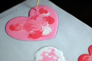 Fun Valentine's Day craft - Homemade window clings!