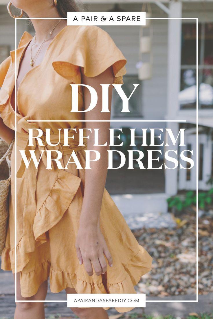 DIY Ruffle Hem Wrap Dress