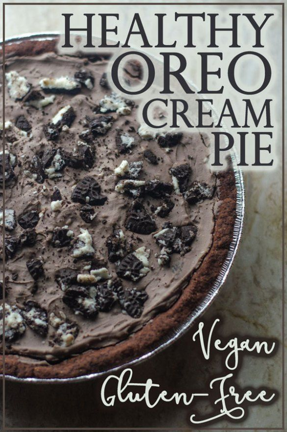 Jul 9, 2020 – Looking for a special holiday dessert, but want to stick to your diet? This healthy oreo cream pie is glut…