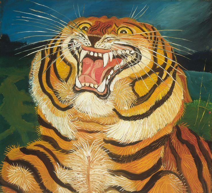 Antonio Ligabue: Testa di tigre - 1955