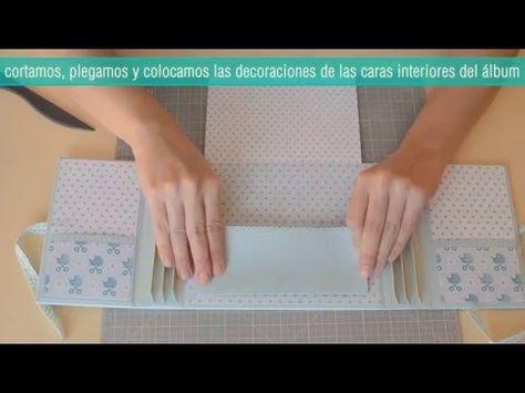 Tutorial mini album bebé   Scrapbook paso a paso (diy) - YouTube