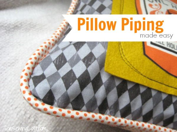 Install Pillow Piping Tutorial #sewing #fabric #spiceberrycottage