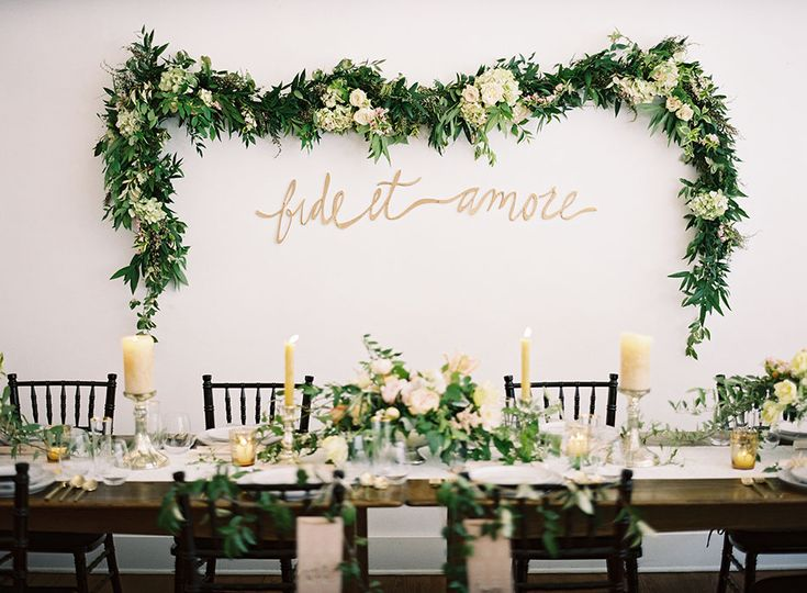 Leafy wall garland | Styling by Mallory Joyce