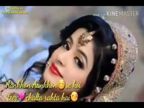 ❤Maine Kyu Pyar KiyaDil Beqarar Kiya❤ most romantic song for whatsaap status - YouTube