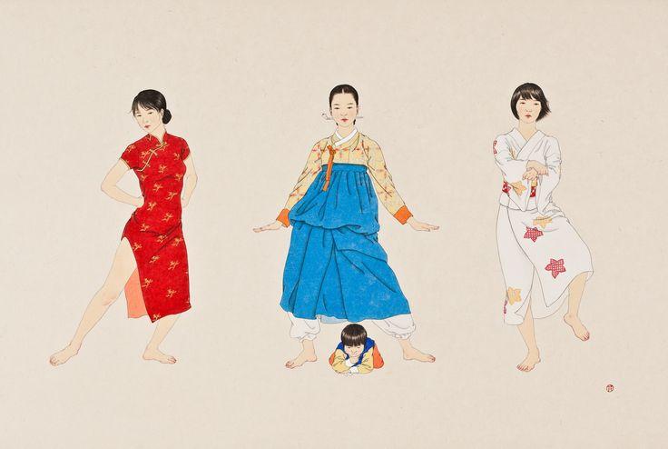 A rendition of Gangnam Style by Shin Sun-Mi. On exhibition at the Sun Gallery in Seoul through 2013.04.07. http://suncontemporary.com/artists/sunmi_intro_e.html #gangnamstyle #art #korea