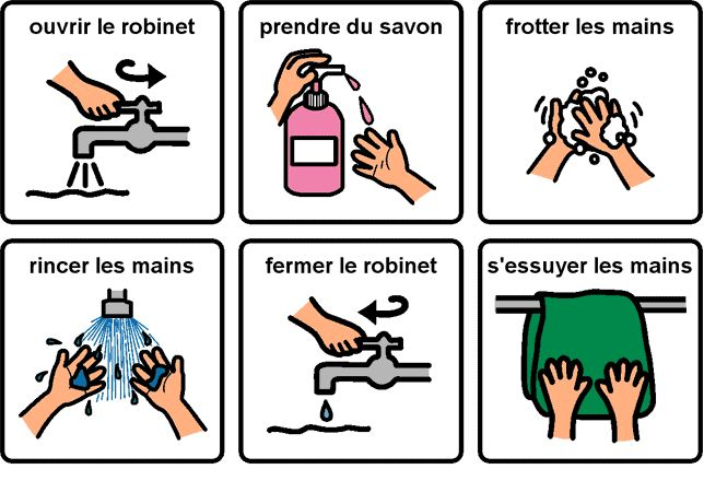 Lavage de mains                                                                                                                                                      Plus