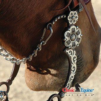 Classic Equine Flower Western Curb Bit