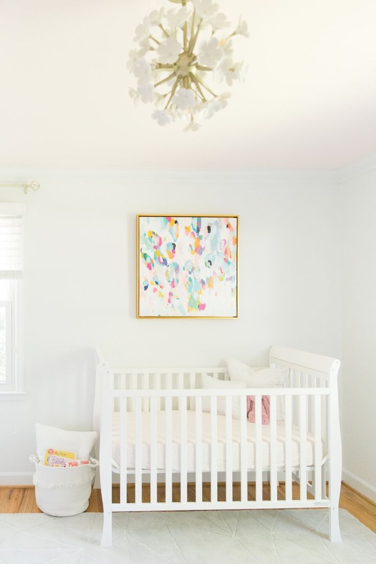 Baby flamingo car interior design - Abstract Art In A Baby Room Is Sooo Right I Love The Pop Of Colors