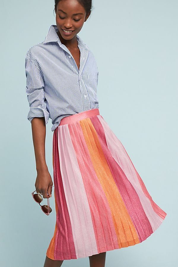 1099c547a6 Sunburst Pleated Midi Skirt | Love to Wear: Spring Outfits | Pleated ...
