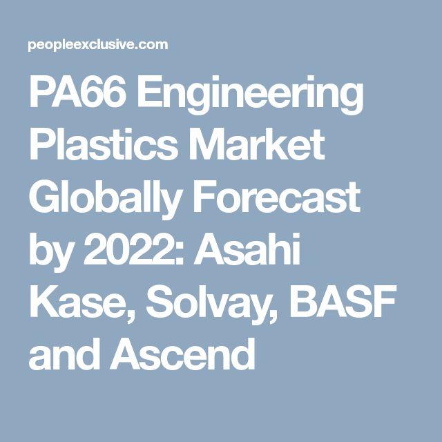 PA66 Engineering Plastics Market Globally Forecast by 2022: Asahi Kase, Solvay, BASF and Ascend
