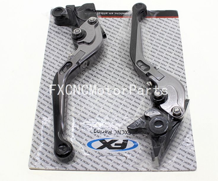 For DUCATI 796 MONSTER 11-14 696 MONSTER 09-14 Pair Gray Motorcycle CNC Adjustable Folding Extendable Brake Clutch Levers