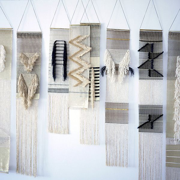 Just a glimpse of the amazing wall weavings made by Justine Ashbee of Native Line.