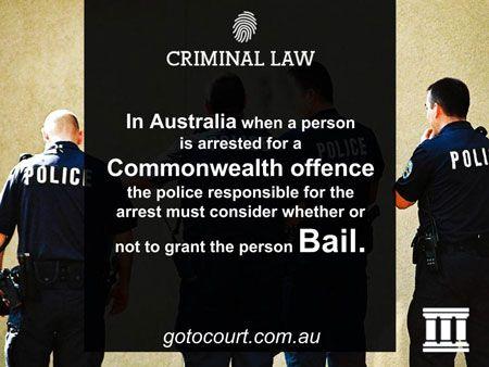 Information about bail applications in Australian criminal law caseshttps://www.gotocourt.com.au/criminal-law/commonwealth-bail-applications
