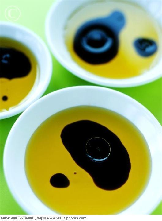 Olive oil & balsamic vinegar for dipping