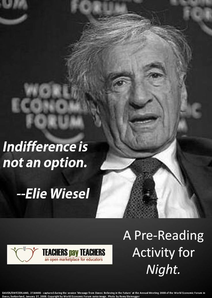 elie wiesel s night and the theme Struggling with the themes of elie wiesel's night we've got the quick and   family members the most important thing is to stay with your family members as  lo.