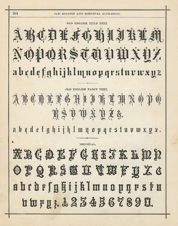 Gothic Lettering (also