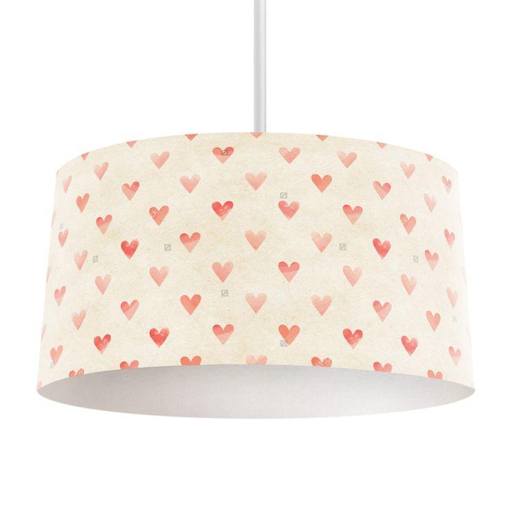Lampenkap Hearts   Bestel lampenkappen voorzien van digitale print op hoogwaardige kunststof vandaag nog bij YouPri. Verkrijgbaar in verschillende maten en geschikt voor diverse ruimtes. Te bestellen met een eigen afbeelding of een print uit onze collectie.  #lampenkap #lampenkappen #lamp #interieur #interieurdesign #woonruimte #slaapkamer #maken #pimpen #diy #modern #bekleden #design #foto #hart #harten #hartjes #valentijn #meisjeskamer #meidenkamer #romantisch #liefde