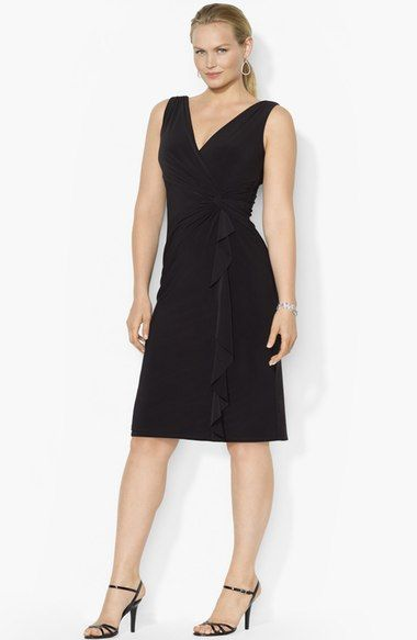 Lauren Ralph Lauren Ruffled Jersey Dress (Plus Size) available at #Nordstrom