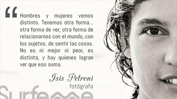 Isis Petroni, fotógrafa argentina. Compagina la fotografía de surf con moda.
