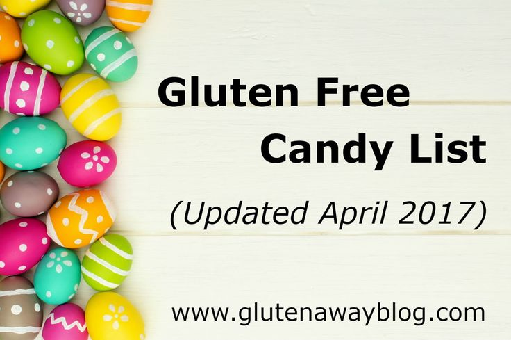 A gluten-free candy list that is updated every Halloween, Valentine's Day, and Easter to make sure you are all safe around the holidays and all year round.  @glutenaway, THANK YOU.