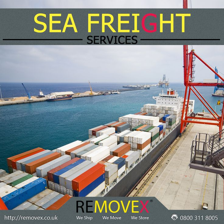 """""""SEA FREIGHT SERVICES"""" are our most cost effective way of transporting your consignment internationally. To contact Removex for this service please visit our official webpage for more information http://www.removex.co.uk/removex-sea-freight-worldwide?utm_content=bufferac597&utm_medium=social&utm_source=pinterest.com&utm_campaign=buffer #SeaFreight #SeaFreightServices #Removex #Sea #Freights"""