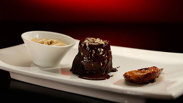 Chocolate Molten Cakes with Coffee and Fig Ice-Cream - My Kitchen Rules- Yahoo!7 TV